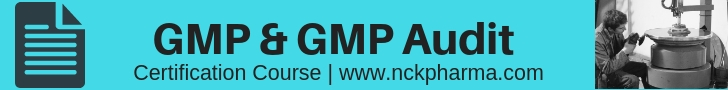 GMP and GMP Audit Course by www.nckpharma.com