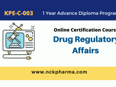 drug regulatory affairs course