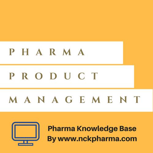 PHARMA PRODUCT MANAGMENT BLOG