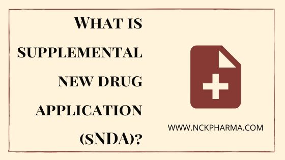 supplemental new drug application sNDA