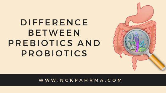 Difference between Prebiotics and Probiotics