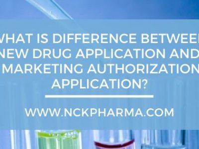 new drug application and marketing authorization