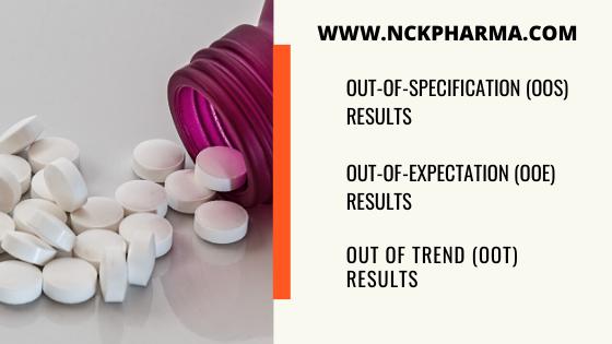 oos ooe oot results meaning in pharma