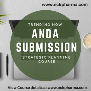 ANDA submission training at nckpharma