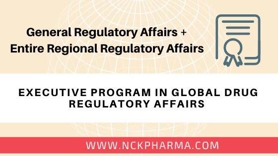 executive drug regulatory affairs