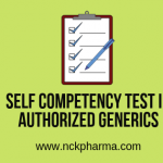 Competency test in authorized generics