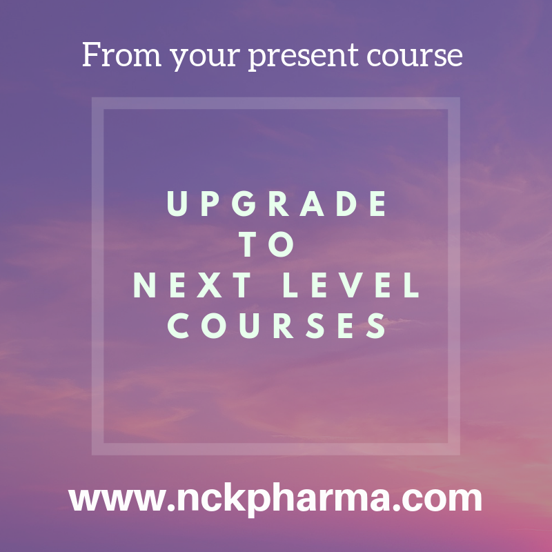 Course upgrade at www.nckpharma.com