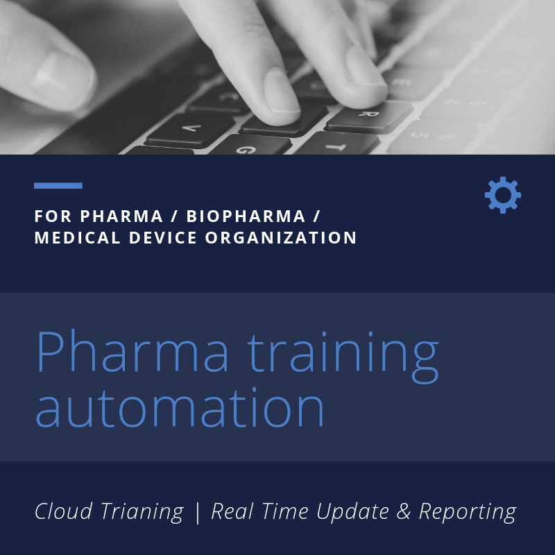 Pharma Training automation services
