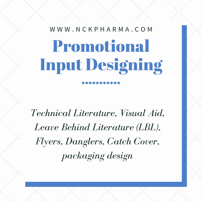 pharma promotional input designing by nckpharma
