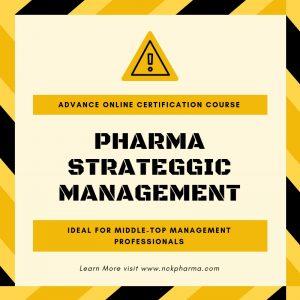 Pharmaceutical Strategic Management Online Certification Course