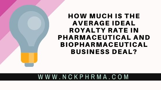 average ideal royalty rate in pharmaceutical and biopharmaceutical business deal