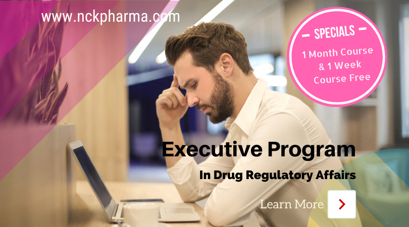 Executive Drug Regulatory Affairs Course
