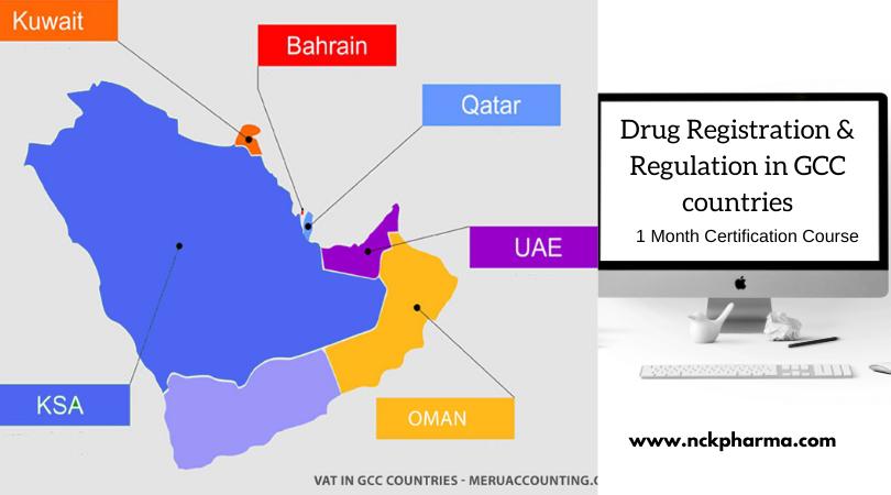 GCC drug regulatory affairs course at nckpahrma