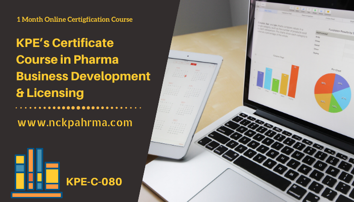 certificate course in pharma business development and licensing