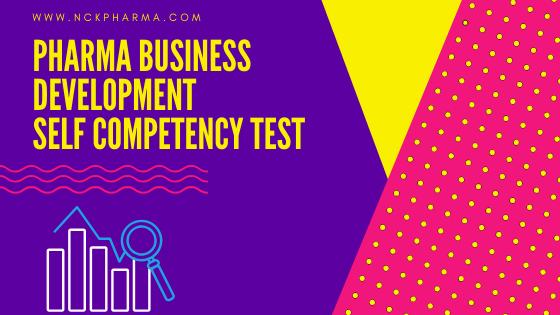 Pharma Business Development competency test