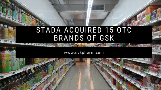 Stada acquired 15 OTC brands of GSK