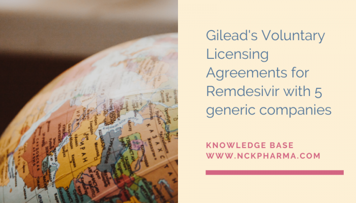 Gilead's Voluntary Licensing Agreements for Remdesivir with 5 generic companies