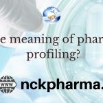 pharmaceutical profiling